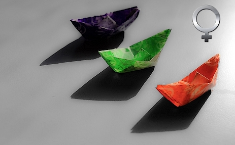 female_symbol_paper_boats