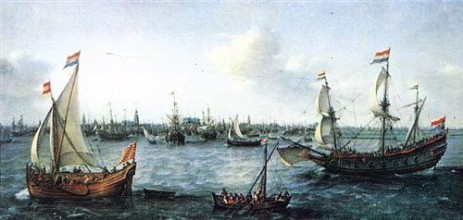 the-harbour-in-amsterdam-1630